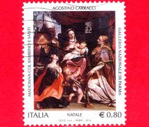 ITALIA - Usato - 2014 - Natale - 0,80 - Madonna Col Bambino E Santi, Opera Di A.Carracci  - Parma
