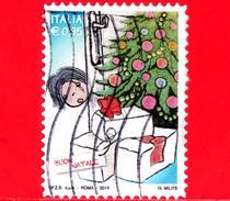 ITALIA - Usato - 2014 - Natale - 0,95 - Albero E Regali Di Natale
