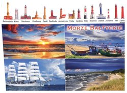(185) Poland Sail Ship + Lighthouse - Phare + Postcrossing Stamp At Back Of Card - Voiliers