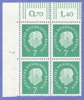 BER SC #9N165-7 MNH B4 1959 Pres. Heuss, CV $4.20 - [5] Berlin