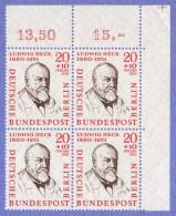 BER SC #9NB19 MNH B4 1957 Dr. Ludwig Heck, CV $3.00 - Unused Stamps