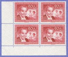 BER SC #9NB20 MNH B4 1957 Elly Heuss-Knapp, CV $5.60 - Unused Stamps