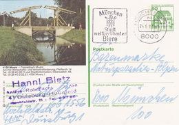 """BPK Bund P 134 I """"Moers"""" Gelaufen Ab """"MÜNCHEN BPA"""" (ak0409) - Brücken"""