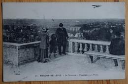 92 : Meudon-Bellevue - La Terrasse - Panorama Sur Paris - Animée : Belle Animation - Avion - (n°8018) - Meudon
