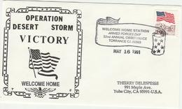 Desert Storm 1991 - Kuwait Iraq War - Armed Forces Day Torrance California - Guerre Du Golfe - Marcophilie