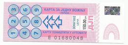 Bus Ticket From Belgrade Beograd Serbia - Bus