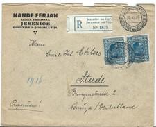 Slovenia R - Letter. Via Germany. Jesenice 20.XI 1926 - Stade 23.11.1926 - Slovénie