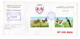 AJMAN - MANAMA, 1972, R-Brief Apollo 15 Michel 1062, Birds & Butterflies 1029 & 1031 Unp. - Manama