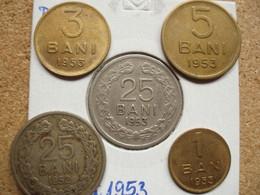 ROMANIA  Set  1 Ban + 3 Bani + 5 Bani 1953, RPR, ED 1.5 - Rumania