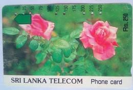 Sri Lanka Phonecard Rs 250 Roses Tamura