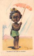 """¤¤  -  Illustrateur """" Gaston MARECHAUX """"  -  Petite Fille Avec Un Parapluie    -  ¤¤ - Autres Illustrateurs"""