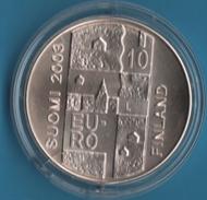 FINLANDE 10 EURO 2003 ANDERS CHYDENIUS ARGENT SILVER - Finlandia