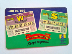 Sri Lanka Phonecard Rs100 Lottery 36SRLB - Sri Lanka (Ceylon)