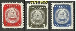 LETTLAND Latvia 1940 Michel 294 - 295 & 300 MNH - Latvia