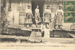 37 - CHATEAU-RENAULT - Le Lavage Des Peaux Dans Une Tannerie  58 - Autres Communes