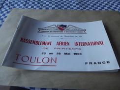 Carnet  Rassemblement Aerien International De Preintemps 1969 Toulon - Zonder Classificatie