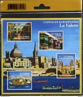 FR 2017 - Capitales Européennes La Valette - 4 Timbres Neufs** - Sous Blister - SUPERBE - Sheetlets