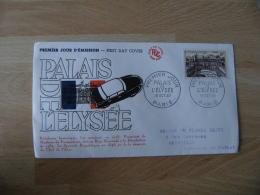 Palais Elysee Fdc Enveloppe 1 Er Jour 1957 - 1950-1959