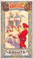 CHROMO IMAGE DE BEUKELAER BISCUITS ANTWERPEN LITHO E . PELLENS  ( 15 CM X 8,5 CM ) - De Beukelaer