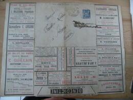 Entier Postal 15 C Sage Enveloppe Lettre Annonce 1903 Publicite Normandie Et Paris
