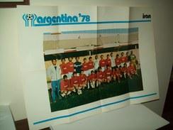 """Poster Nazionale  Calcio """"Iran""""  Mondiali 1978. - Non Classificati"""