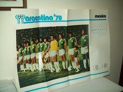 """Poster Nazionale  Calcio """"Messico""""  Mondiali 1978. - Non Classificati"""