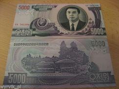 KOREA 2002 5000 Won P-46 UNC - Korea, Noord