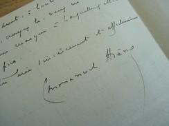 Emmanuel ARENE (1856-1908) Député CORSE, Ajaccio. Scandale Panama. Ecrivain. AUTOGRAPHE - Autographes