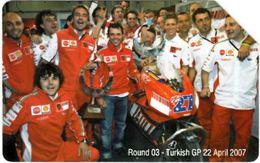 SCHEDA TELEFONICA USATA 837 ROUND 03 TURKISH - Public Practical Advertising
