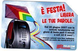 SCHEDA TELEFONICA USATA 866 È FESTA - Pubbliche Figurate Ordinarie