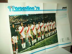 """Poster Nazionale  Calcio """"Perù""""  Mondiali 1978. - Non Classificati"""