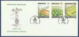 RWANDA MNH FDC FIRST DAY COVER 1986 PLANTS PLANT - Rwanda