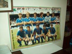 """Poster Nazionale  Calcio """"Italia""""  Mondiali 1982  (Campione Del Mondo) - Calcio"""