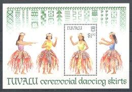 Tuvalu - 1989 Traditional Dance Costumes Block MNH__(TH-17806) - Tuvalu