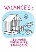 Effel Jean (illustrateur)- Cartes Illustrée ,Vacances Secours Populaire Français. - Effel