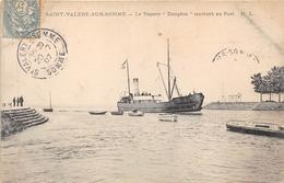 """80-SAINT-VALERY-SUR-SOMME-  LE VAPEUR """" DAUPHIN """" RENTRANT AU PORT - Saint Valery Sur Somme"""