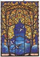Jacques Gruber 1903 : Roses Et Mouettes (vitrail Vitraux) Nancy 24 Rue Lionnais - Arts