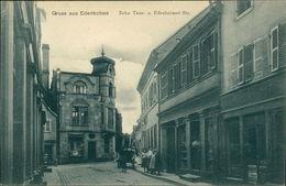 AK Edenkoben, Ecke Tanz- U. Edesheimer Strasse, O 1910, Briefmarke Entfernt (4337) - Edenkoben