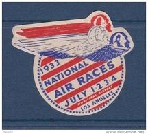 Etats Unis - Vignette National Air Race Los Angelès 1933 - Neuf * - TB - Erinnophilie
