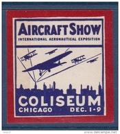 Etats Unis - Vignette Air Craft Show Chicago 1928 - Neuf * - TB - Cinderellas
