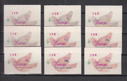 Tonga 1974,Official 9V,set,peacedove,birds,vogels,vögel,oiseaux,pajaros,aves,MNH/Postfris(A3224) - Birds