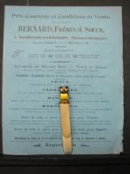 PAD. 92. Chemise Publicitaire Des Carrières Bernard Frères Et Soeur à Basècles