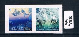 Australia-aat  Ice Flowers  2 Val S/ad  Ex Booklett Muh  AA738 - Australian Antarctic Territory (AAT)