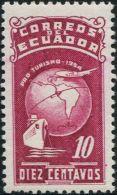 JA0163 Ecuador 1954 Map Planes And Boats 1v MNH - Ecuador