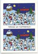 """Trouvez Les 7 Différences """"Bonne Année Bonne Santé"""" Bonhommes De Neige (voeux Sports D'hiver) Magali Membré Ed - Speelgoed & Spelen"""