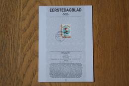 Nederland Netherlands  Eerstedagblad 502 Decemberzegel Snoopy Cartoon 2010 NVPH 2777 - Non Classés
