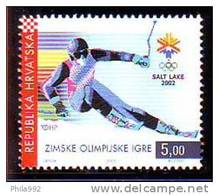 Croatia 2002 Y Sport Olympic Games Skiing Mi No 603 MNH - Kroatië