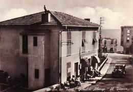 """VENDO N.1 CARTOLINA DELLA RIVIERA DEI FIORI-GRIMALDI(IM)ALBERGO""""AL VITTORIA,FORMATO GRANDE IN BIANCO E NERO - Imperia"""