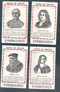 S970 - CHROMOS CHOCOLAT DES GOURMETS - LEON XIII ALAIN RENE LESAGE LONARD DE VINCI EUSTACHE LESUEUR - Otros