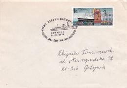 Ships: TSS Stefan Batory P/m Gdynia 1 X Lecie Sluzby Na Atlantyku 1979 (T12-32) - Schiffe